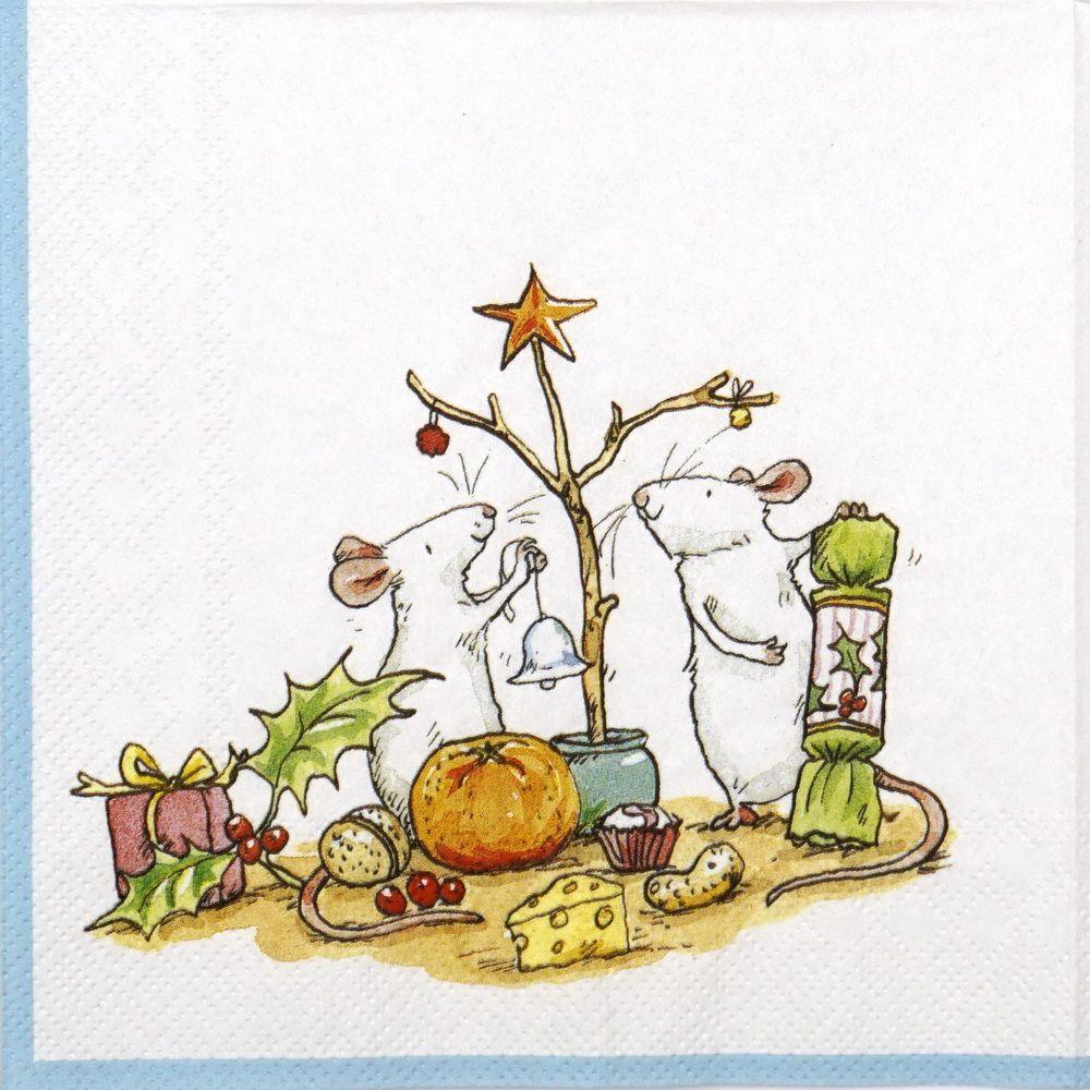 Paper Napkin - Anita Jeram: Little Christmas Tree #papernapkins