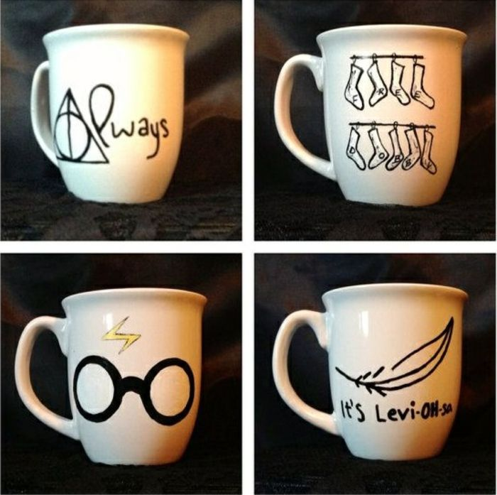 le mug personnalis en 80 id es cr atives harry potter sharpie and craft. Black Bedroom Furniture Sets. Home Design Ideas