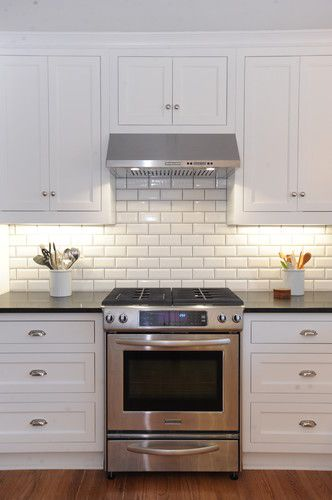 beveled subway tile with grey grout | Home Decor | Pinterest ...