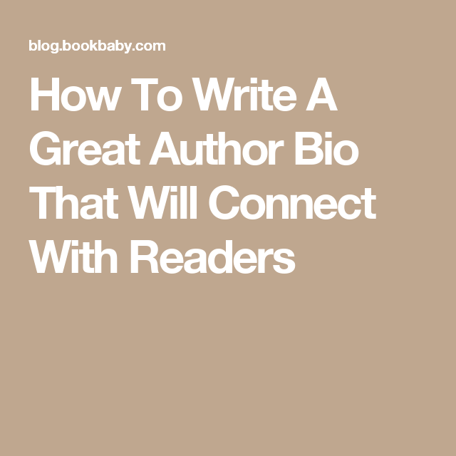 how to write a great author bio that will connect with