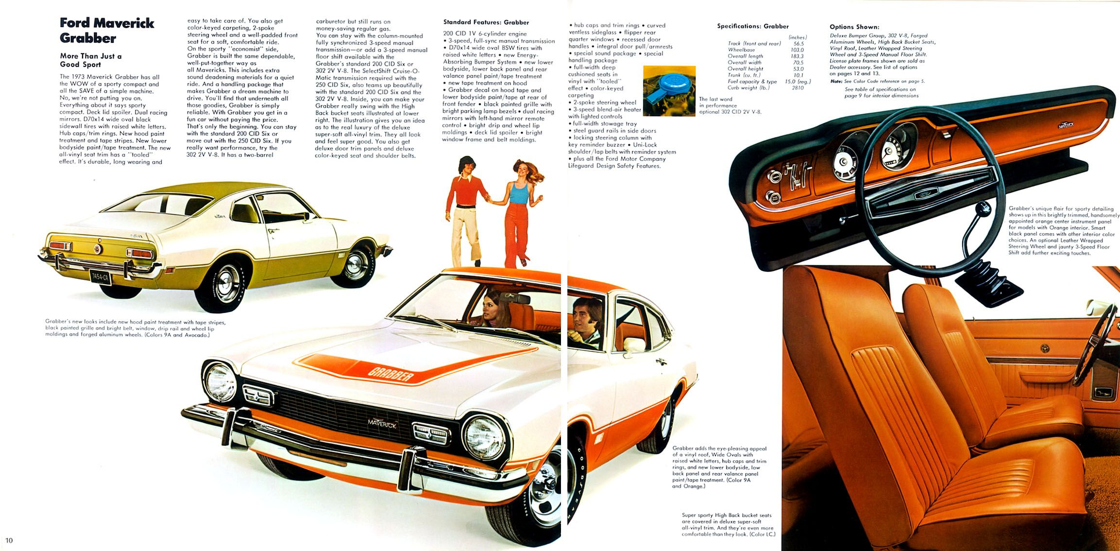 1973 Ford Maverick Grabber Ford Maverick Car Brochure Ford