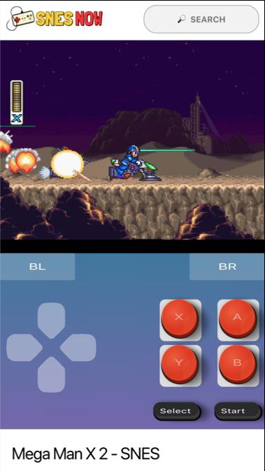 Play Mega Man SNES on iphone 6 from Mega man
