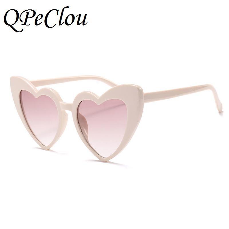 ca9085a2f6a FuzWeb QPeClou Heart Shaped Sunglasses Women Brand Sexy Cute Sun Glasses  Female 2018 New Romantic