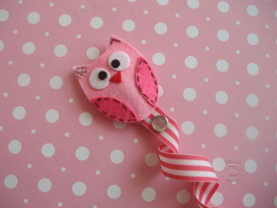 owl pacifier holder | tela y artesanias con recortes de ...
