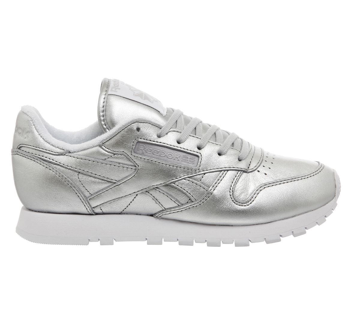 745c30cfcd8c61 Buy Presence Silver Face Reebok Classic Leather Trainers (W) from  OFFICE.co.uk.