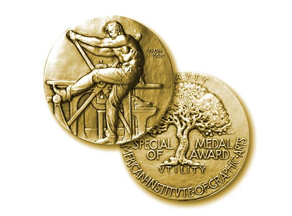 Carson was recognized with 2014 AIGA medal (American Institute of - american institute of graphic arts