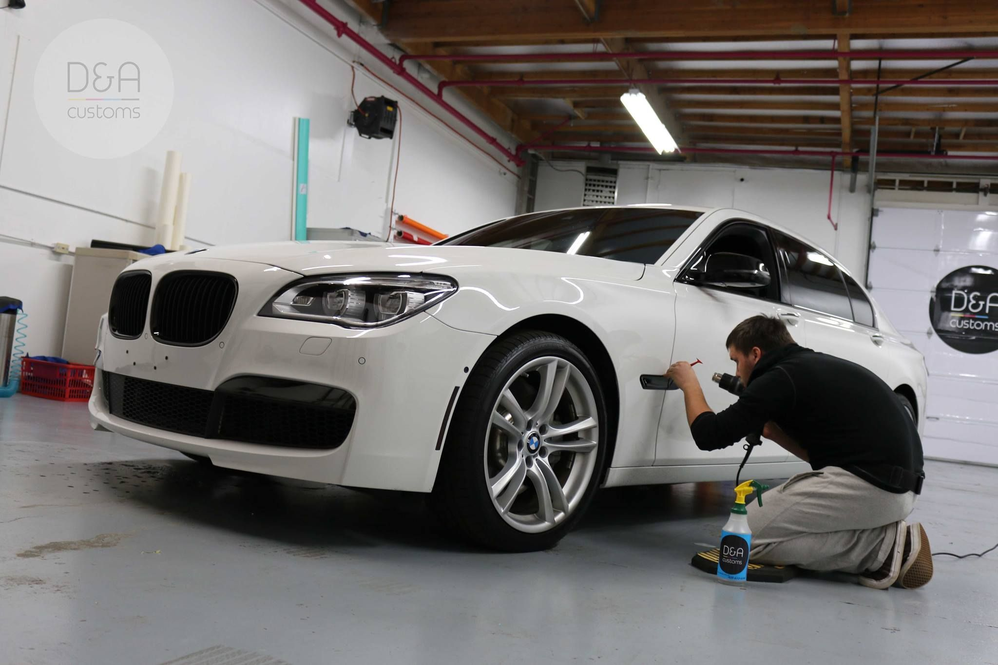 Bmw 7 Series De Chroming And Wrapped Side Mirror Caps In Gloss Black Dacustoms Wraps 425 633 6288 Car Graphics Commercial Window Tinting Car Wrap