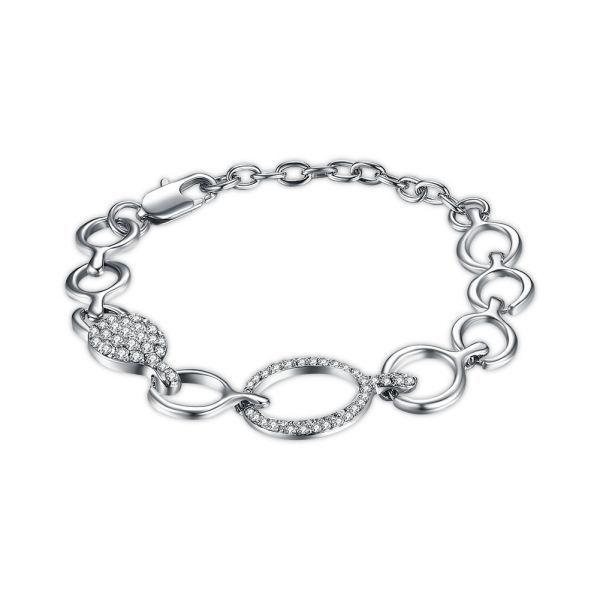 Inalis Platinum Rhinestones Bracelets Gift For Women Bracelets 9ct