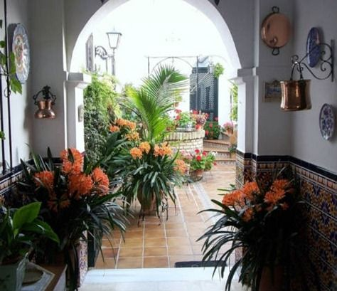 Decoracion de patios interiores courtyards pinterest for Decoracion de patios