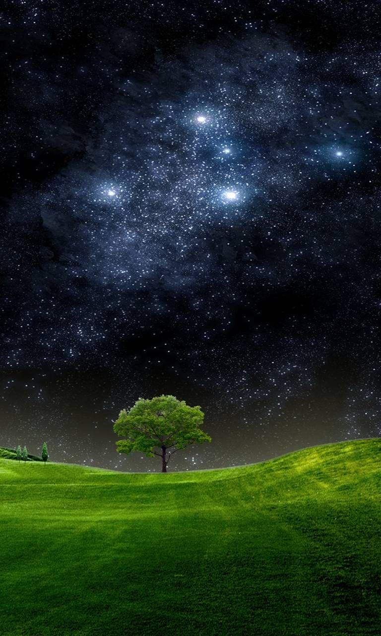 Hd Night Sky Night Sky Wallpaper Night Sky Photography Fantasy Landscape