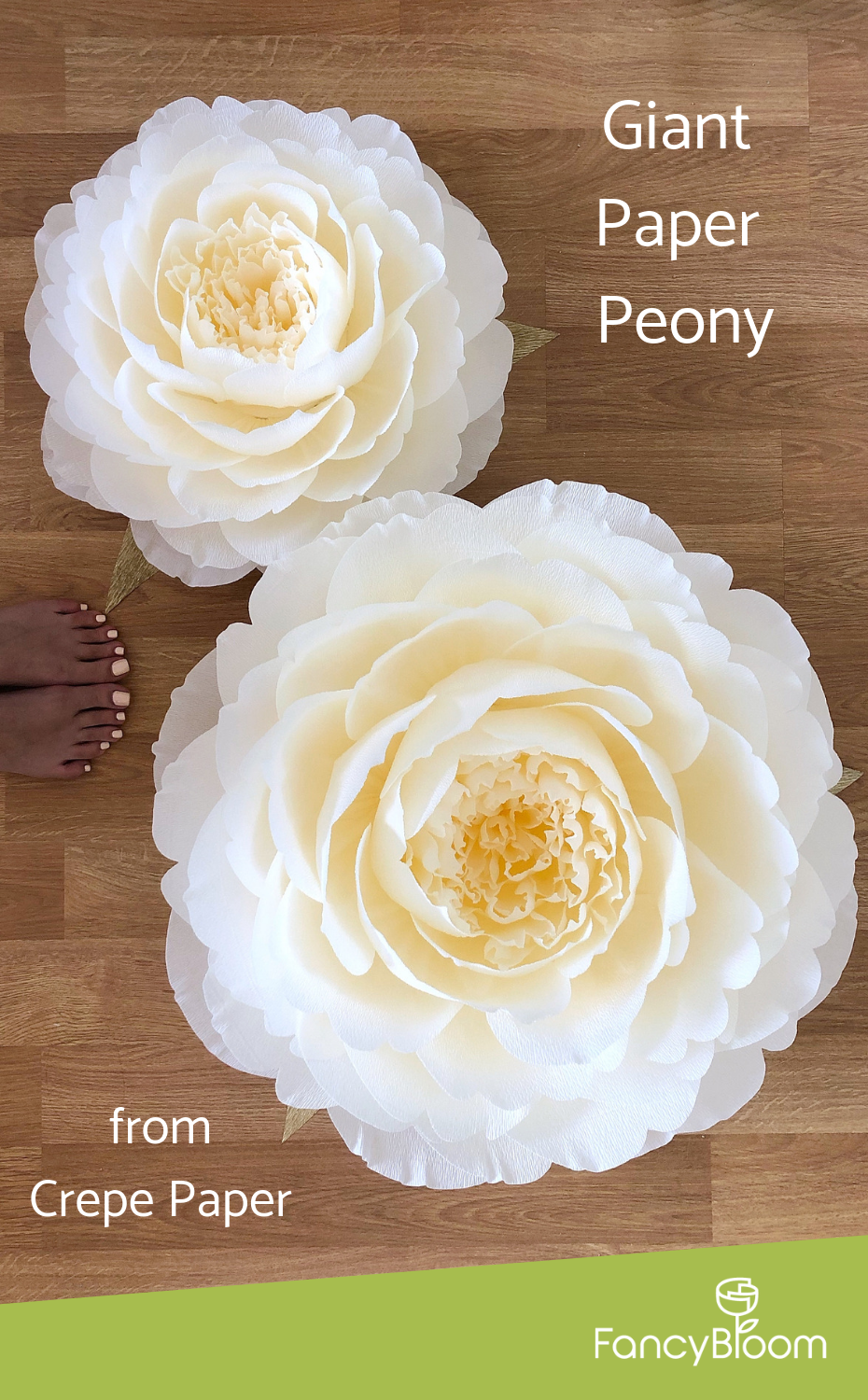 Crepe paper giant peonies from FancyBloom