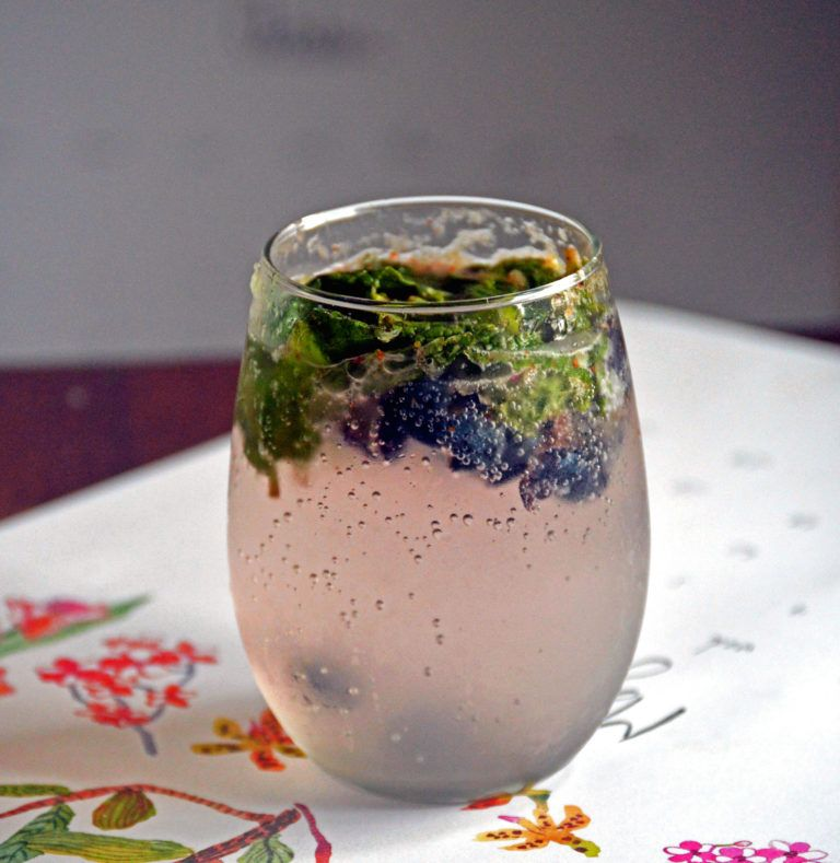 Blueberry Mojito Recipe with Fresh Blueberries & Mint