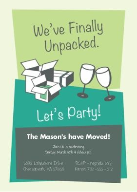 unpacked housewarming party invitation housewarming