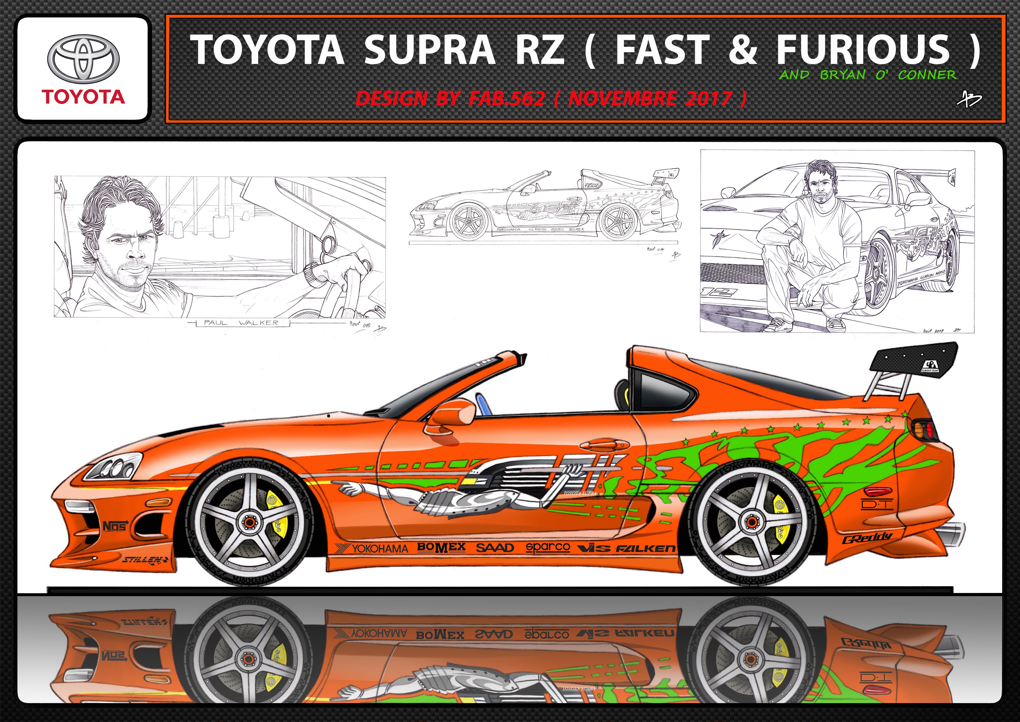 Toyota supra fast and furious paul walker bryan oconner tuning modified cars toyota supra car