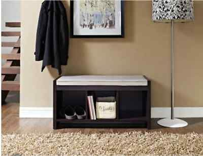 Storage Bench With Cushion For Extra Seating Storage Living dining room stools