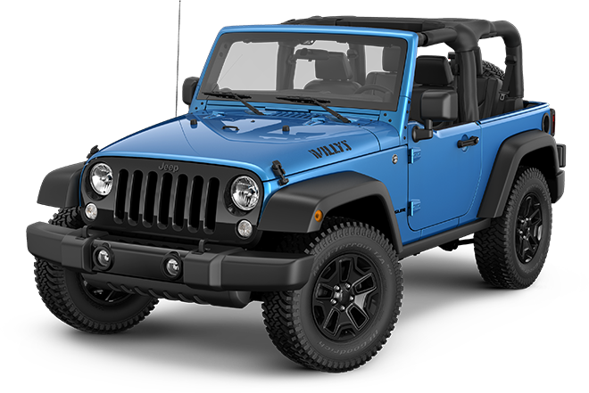 2014 Jeep Willys Wheeler In Hydro Blue Art Of All Kinds