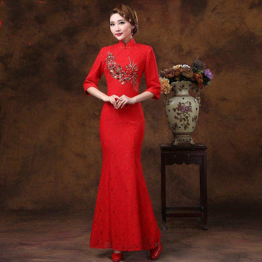 35++ Red silk mermaid wedding dress info