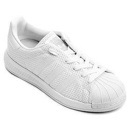 c128d1a66d9 Tênis Adidas Superstar Bounce J Infantil - Branco
