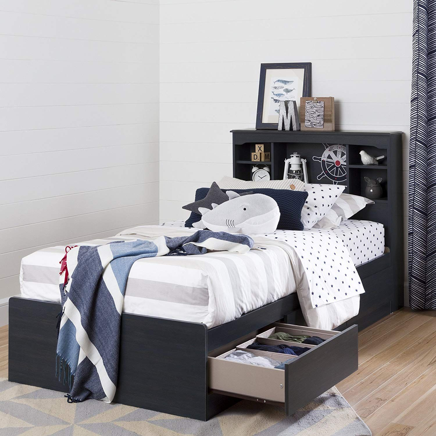 South Shore Aviron Mates Bed with 3 Drawers