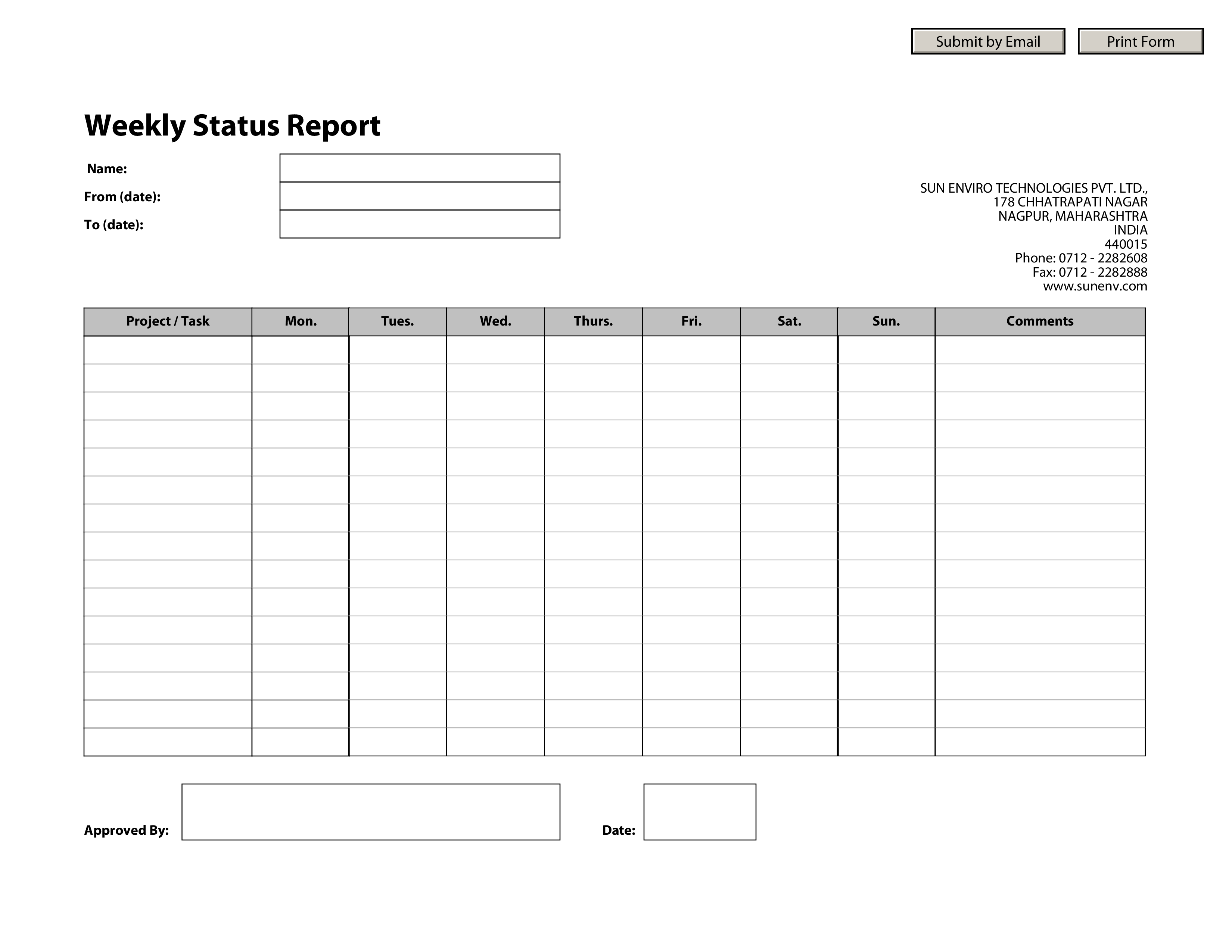Hr Weekly Status Report  Download This Hr Weekly Status Report