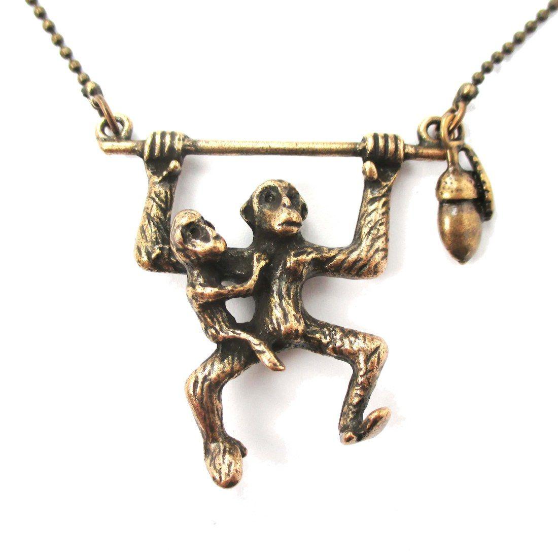 3d monkey mother and baby shaped animal pendant necklace in bronze 3d monkey mother and baby shaped animal pendant necklace in bronze 1150 monkeys animals aloadofball Choice Image