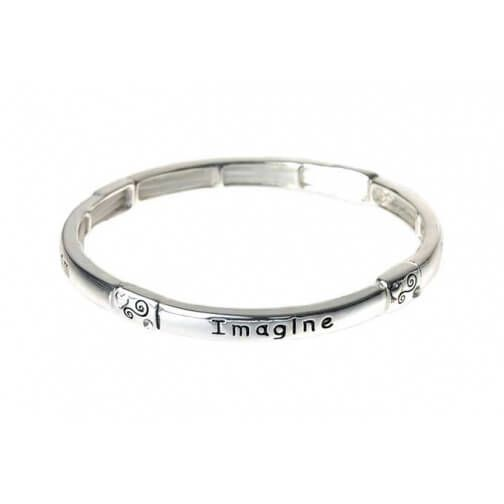 Quote Jewellery Affirmations Silver Stretch Bangle