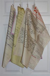 Sewing Family Heirloom Recipes On A Towel