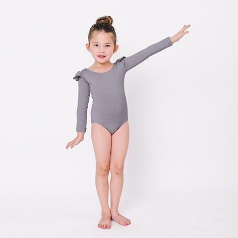 US Girls Gymnastics Long Sleeve Leotards Ballet Dance Dress Bodysuit Dancewear