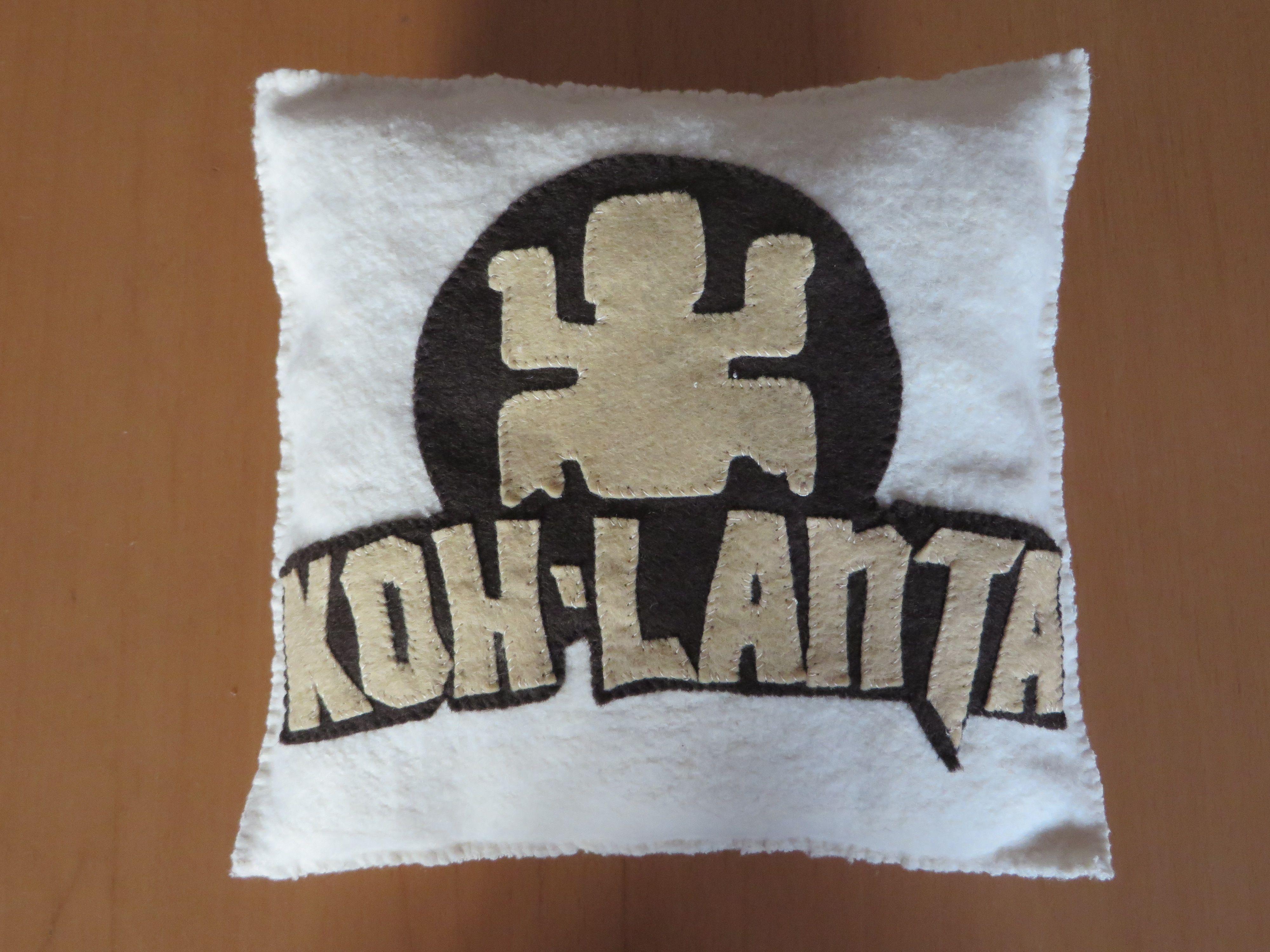 Coussin Koh Lanta, 20*20 cm, en molleton de chanvre et