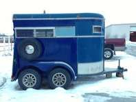 Fantastic 2 Horse Bumper Pull Trailer With Walk Through And Tack
