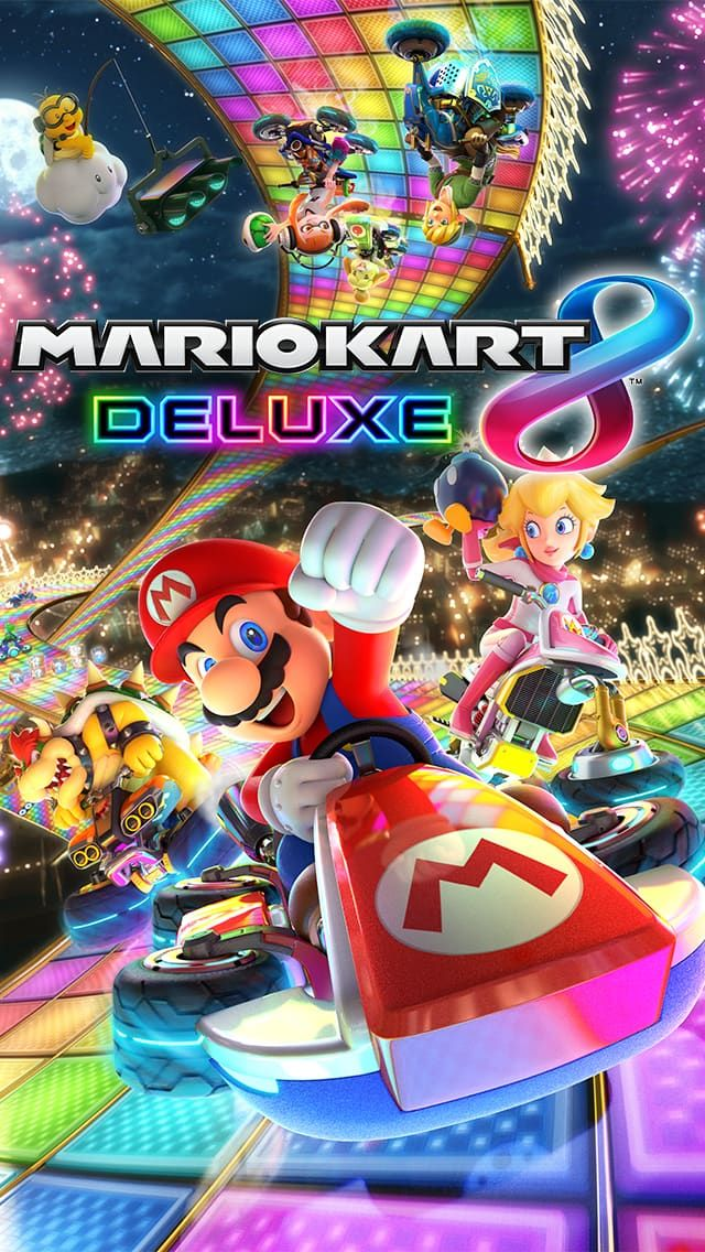 Pin by lucy potter on wallpapers mario kart 8 mario - Mario kart 8 deluxe iphone wallpaper ...