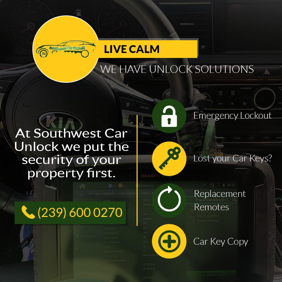 Call us for lost car keys, car key replacement, transponder