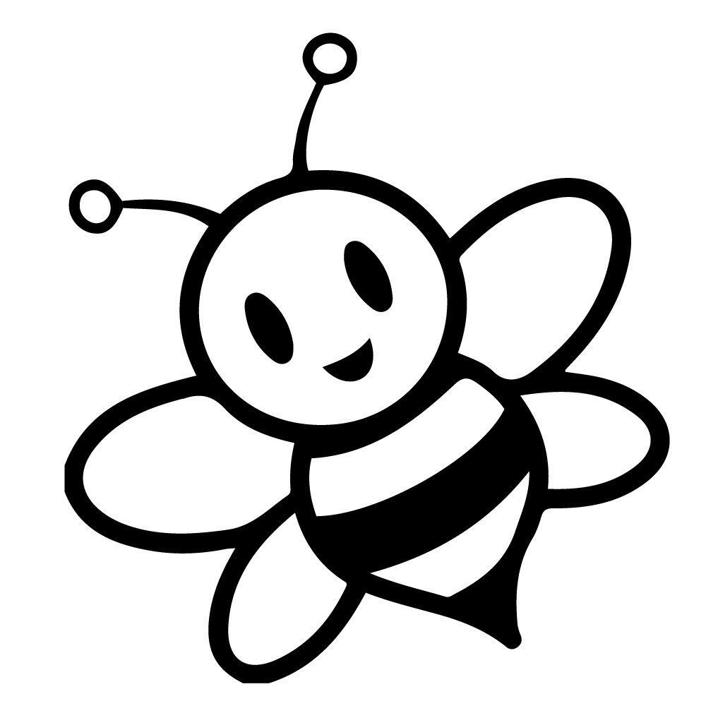 amazoncom bumble bee bumblebee cute cartoon funny size 10 color - Bumblebee Coloring Pages