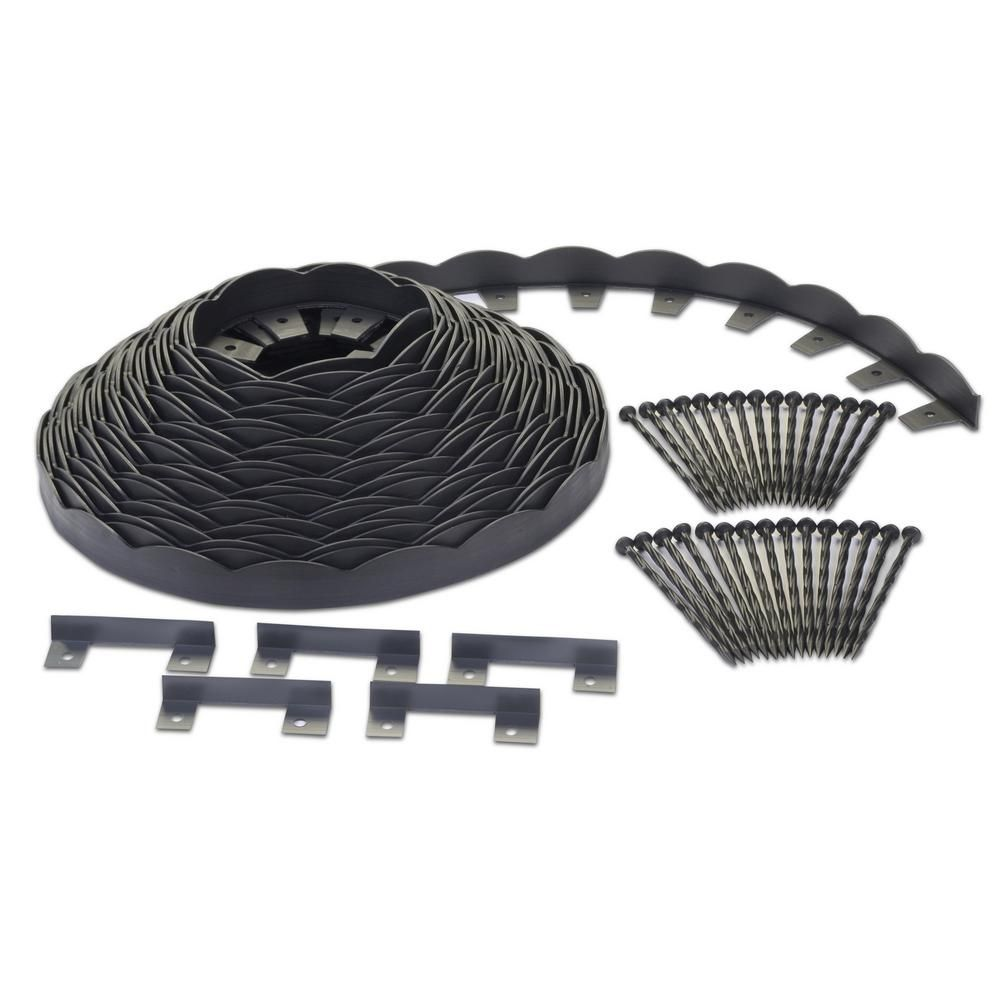 Proflex No Dig 100 Ft Scallop Top Edging Kit 3011hd 100c In 2020 Scallop Top Scallop Landscape Edging