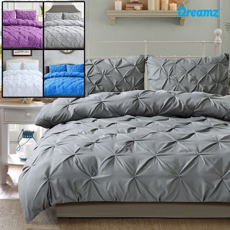 Dreamz Pintuck Quilt Cover Pintuck Duvet Cover King Size Quilt Covers Duvet Bedding