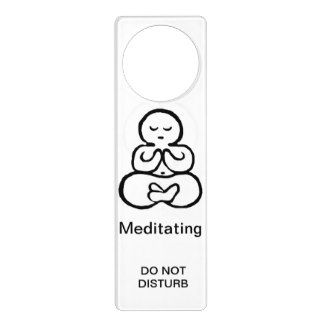 Door Knob Hanger Sign Yoga in Session for Hotel Room Home Decoration PVC Plastic 9.25x3.5 Inches Double-Sided 4 Pack Do Not dDisturb Door Hanger Sign