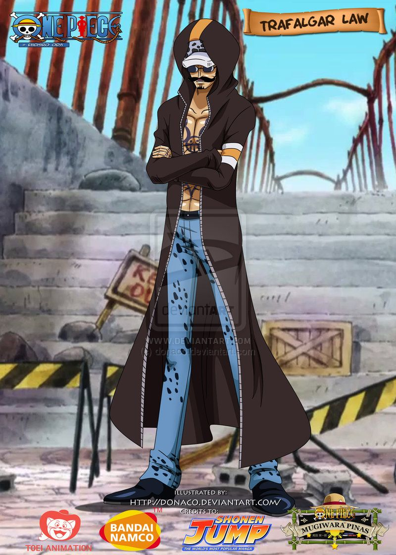 Trafalgar Law Dressrosa Outfit By Donaco On Deviantart Trafalgar Law Trafalgar One Piece Fanart