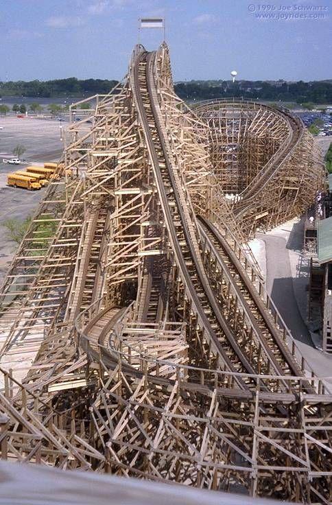 Joyrides Viper Roller Coaster Thrill Ride Six Flags