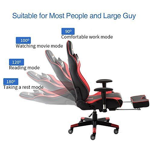 WENSIX Gaming Chair High Back Computer Chair With