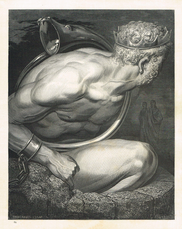 La Divine Comédie - L'enfer - illustration de Gustave Doré gravée par Monvoisin…