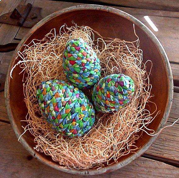 Farm fresh fabric Easter eggs