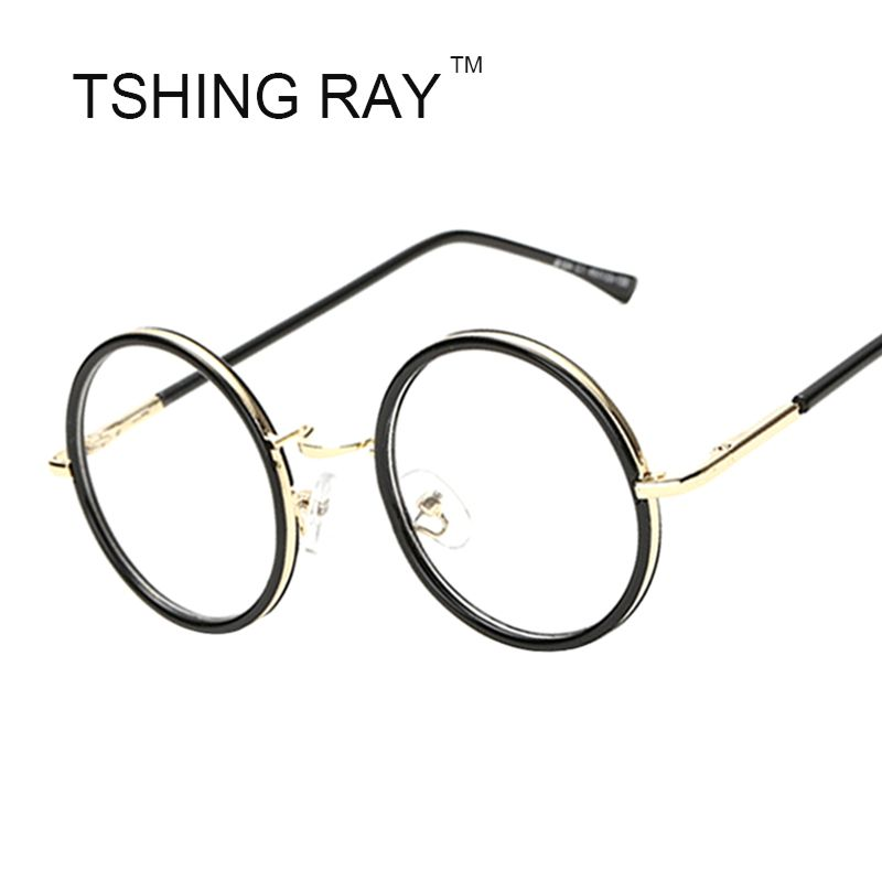 b6e7aa881bd3a Vintage Round Eye Glasses Frame Men Women Brand Designer Harry Potter  Cosplay Reading Optical Nerd Eyeglasses