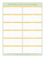 Birthday Calendar   Organized Home