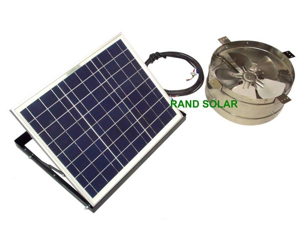 Rand Solar Powered Attic Gable Fan 20 Watt Ventilator Panel New 1274 Cfm 20w Randsolar Solar Panel Installation Solar Power Panels Solar Energy Panels