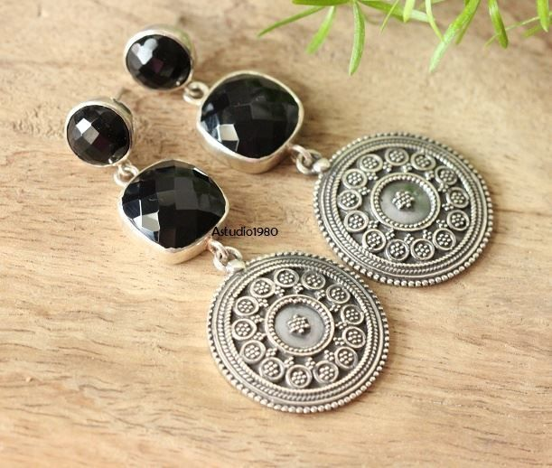 Ethnic Jewelry Earrings Black Onyx Silver By Astudio1980 Online At