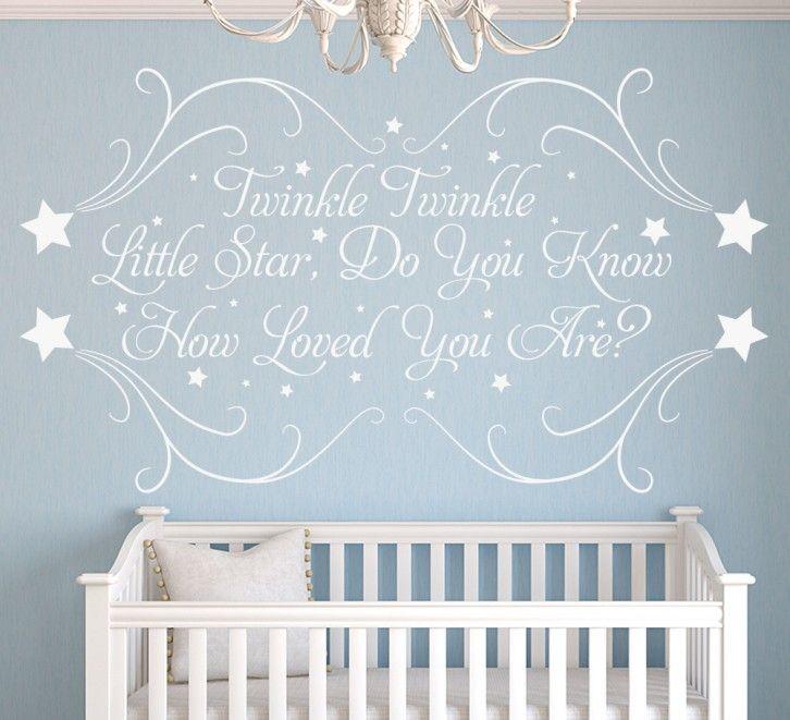 Twinkle Little Star Wall Art Sticker Personalised | Baby T\'s Nursery ...