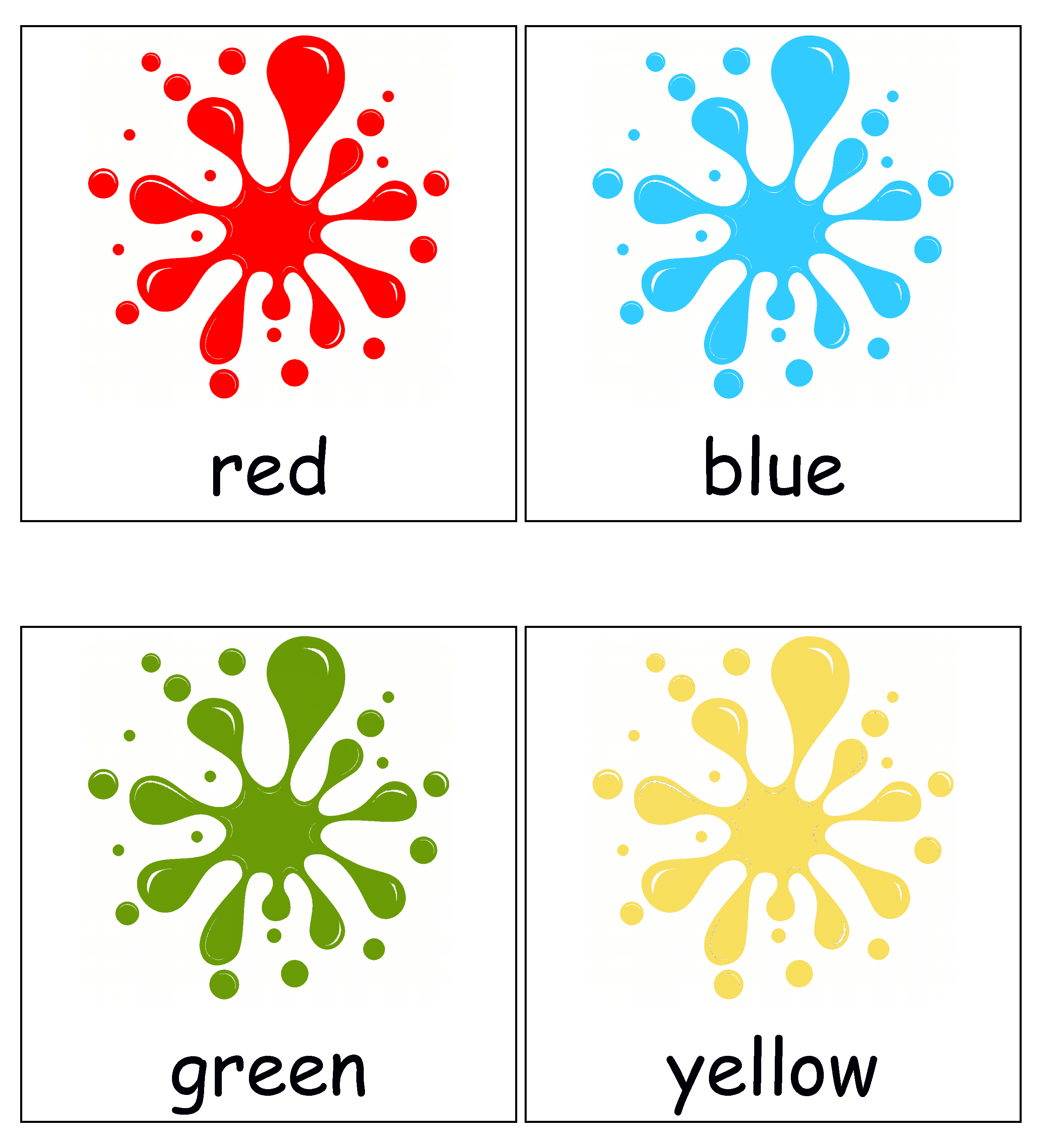 Printable For Toddlers And Preschoolers Printable Flash Cards Color Flashcards Alphabet Flash Cards Printable