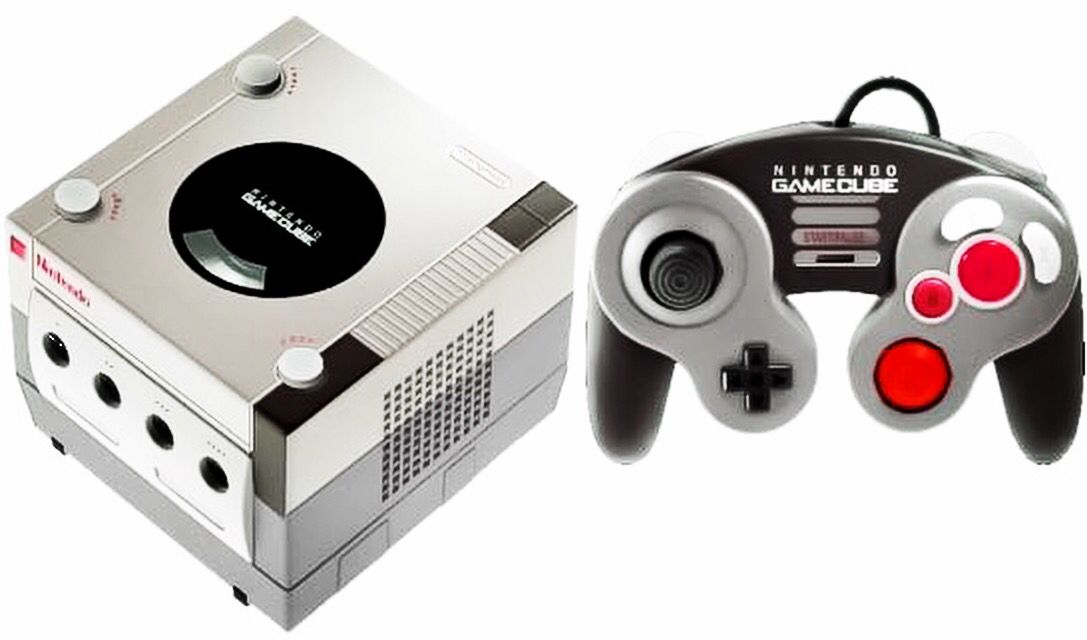 NES themed GameCube console and GameCube controller  #nintendo #nes