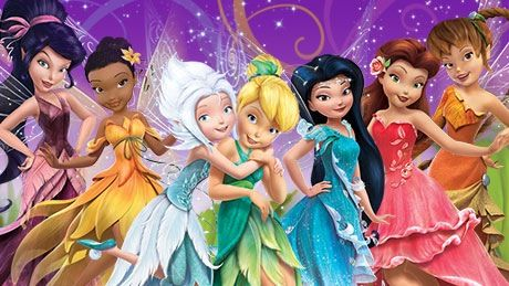 Tinker bell and her fairy friends