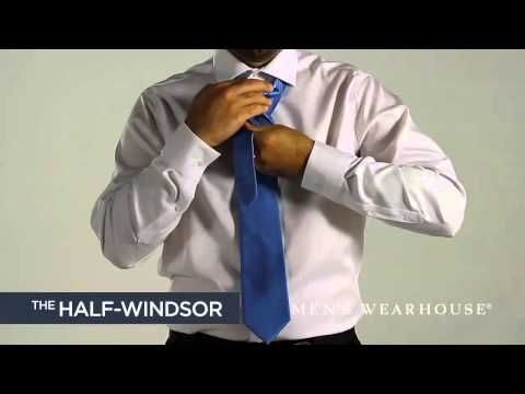 How To Tie A Tie Video By Men S Wearhouse Mens Wearhouse Half Windsor Ties Mens